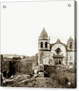 Carmel Mission By A.j. Perkins 1880 Acrylic Print