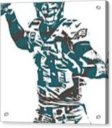 Carson Wentz Philadelphia Eagles Pixel Art 5 Acrylic Print