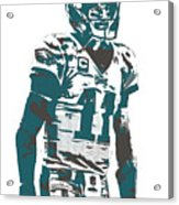 Carson Wentz Philadelphia Eagles Pixel Art 6 Acrylic Print