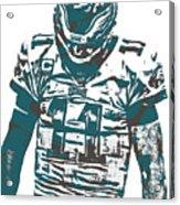 Carson Wentz Philadelphia Eagles Pixel Art 7 Acrylic Print