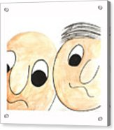 Cartoon Faces Acrylic Print
