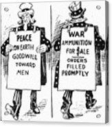 Cartoon: U.s. Neutrality Acrylic Print