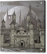 Castle By Night - 3d Render Acrylic Print