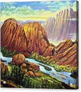 Castle Rock Valley Acrylic Print