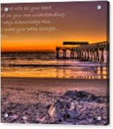 Castles In The Sand 2 Tybee Island Pier Sunrise Acrylic Print