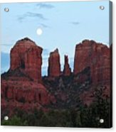 Cathedral Rock Moon 081913 A2 Acrylic Print