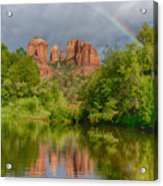 Cathedral Rock Rainbow Acrylic Print