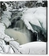 Cattyman Falls In Winter Acrylic Print