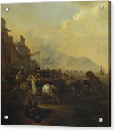 Cavalry Attacking A Fortified Place Acrylic Print