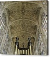 Ceiling Of Kings College Chapel Acrylic Print