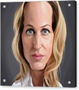 Celebrity Sunday - Gillian Anderson Acrylic Print