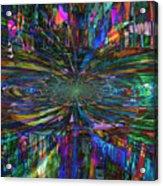 Central Swirl Acrylic Print