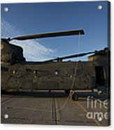 Ch-47 Chinook Helicopter On The Tarmac Acrylic Print