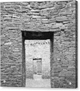 Chaco Canyon Doorways 1 Acrylic Print