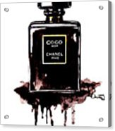 Chanel Noir Perfume Acrylic Print