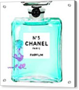 Chanel Perfume Turquoise Chanel Poster Chanel Print Acrylic Print
