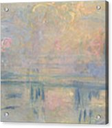 Charing Cross Bridge Acrylic Print by Claude Monet