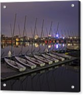 Charles River Boats Clear Water Reflection Acrylic Print