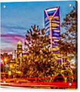 Charlotte City Skyline Early Morning At Sunrise Acrylic Print