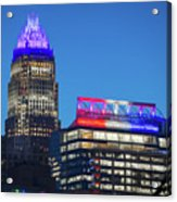 Charlotte North Carolina Skyline City View Acrylic Print