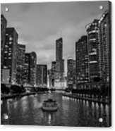 Chicago River Sunset Acrylic Print