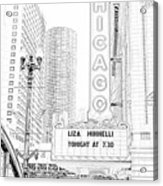 Chicago Theater Marquee Acrylic Print