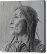 Chief Wolf Robe Acrylic Print