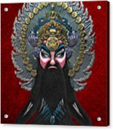 Chinese Masks - Large Masks Series - The Emperor Acrylic Print by Serge Averbukh