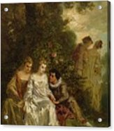 Chivalric Scene In A Park Acrylic Print