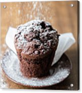 Chocolate Muffin With Powdered Sugar Acrylic Print