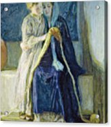 Christ And His Mother Studying The Scriptures Acrylic Print