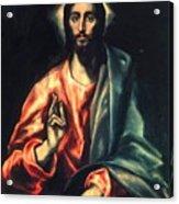 Christ As Saviour Acrylic Print