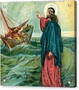 Christ Walking On The Sea Acrylic Print
