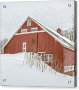 Christmas Barn Acrylic Print