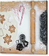 Christmas Interior With Sweets And Vintage Kitchen Tools Acrylic Print