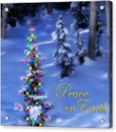 Christmas Tree On A Snowy Hillside Acrylic Print by Utah Images