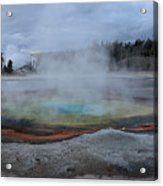 Chromatic Pool Yellowstone Acrylic Print