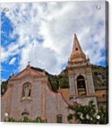 Church In Taormina Acrylic Print