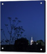 Church Under Night Sky Acrylic Print