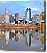 Cincinnati Reflects Acrylic Print