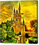 Cinderella Castle - Van Gogh Style Acrylic Print