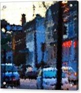 City As A Painting Acrylic Print