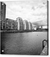 city lofts and nv buildings salford quays Manchester uk Acrylic Print