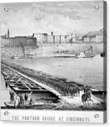 Civil War: Pontoon Bridge Acrylic Print