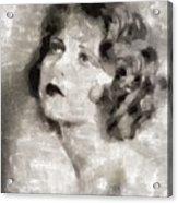Clara Bow Vintage Hollywood Actress Acrylic Print