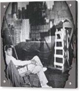 Clark Gable Mgm Sound Stage Circa 1932-2008 Acrylic Print