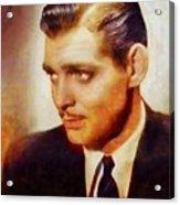 Clark Gable, Vintage Hollywood Actor Acrylic Print