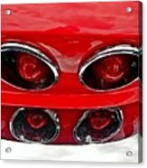 Classic Car Tail Lights Acrylic Print