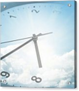 Clock In Sky 2 Acrylic Print