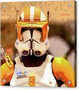Clone Trooper Commander - Free Style Style Acrylic Print